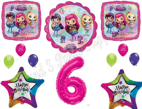 Little Charmers 6Th Sixth Birthday Party Balloons Decoration Supplies Nick Hazel