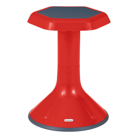 "Learniture Active Learning Chair/ Stool, 18"" H, Red, Lnt-3046-18Rd"
