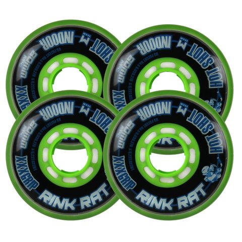 Rink Rat Wheels 80Mm 76A Hotshot Xxx Black/Green Inline Indoor Hockey