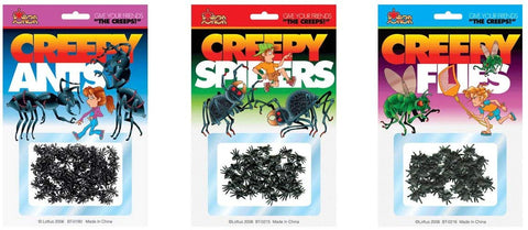 Fake Creepy Insects Set Spiders Ants And Flies Gag Gift Joke