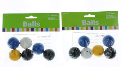 Police Party Bouncing Balls Lot Of 12 Assorted Colors Party Favors