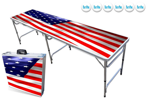 Partypongtables.Com 8-Foot Beer Pong Table - Usa Edition