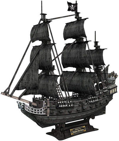 Cubicfun 3D Puzzle Pirate Ship Model Ship And Boat Kit Vessel Set For Adults, Large And Difficult Queen Anne'S Revenge (Edition Giant) 308 Pieces