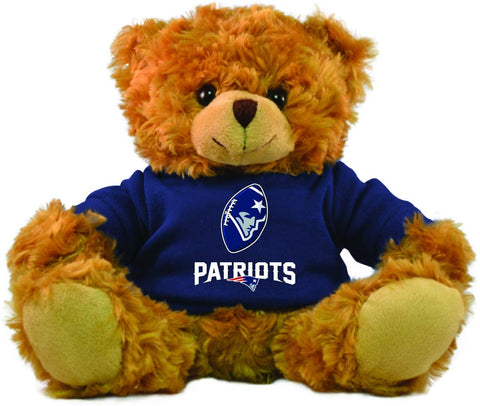 Gulf Coast Sales Nfl New England Patriots Hoodie Bear, Brown, 9-Inch