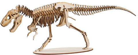 Crafts - T-Rex Skeleton - Model Kit Raw Wood