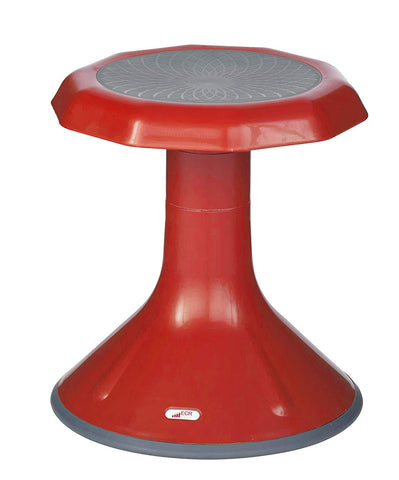 Ecr4Kids Ace Active Core Engagement Wobble Stool For Kids, Flexible Classroom & Home Seating, Kids Chair, Flexible Seating, Wiggle Chairs, 360 Degree Movement, 15-Inch Seat Height, Red