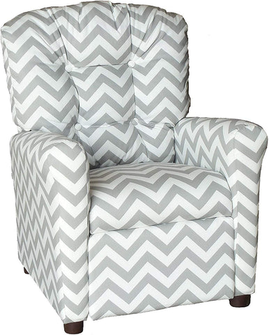 Brazil Furniture 400-Zig Zag Storm Children'S Button Back Recliner, Zig