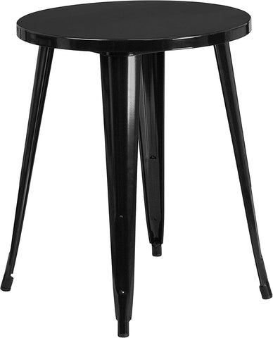 Flash Furniture 24'' Round Black Metal Indoor-Outdoor Table