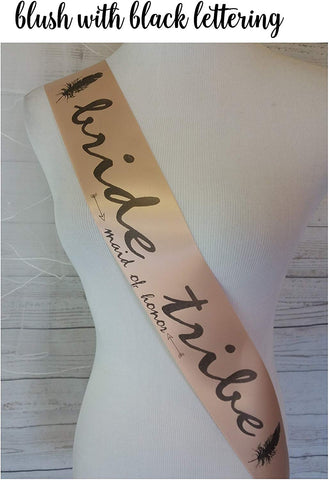 Bride'S Tribe Bachelorette Sash For Bride To Be Or Bridal Party To Wear To Bachelorette Party, Engagement Party, Bridal Shower Or, Hen Party, Celebrations, Anniversary Retiree Halloween - Custom Made