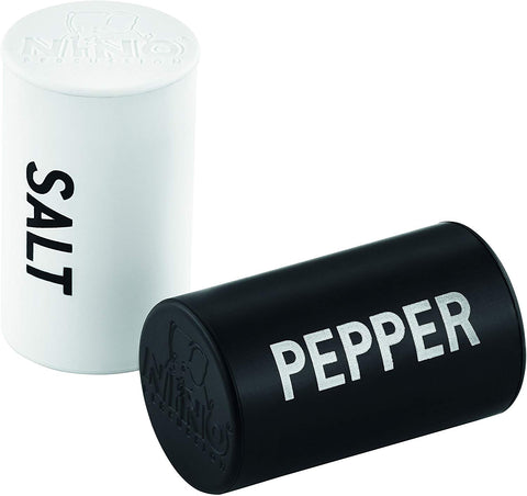 Nino Percussion Nino578 Salt And Pepper Rhythmic Shaker Set, Pair