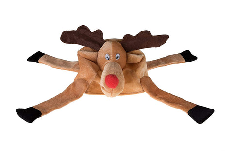 Clever Creations Christmas Reindeer Hat One Size Fits Most Christmas Hat For Both Kids And Adults