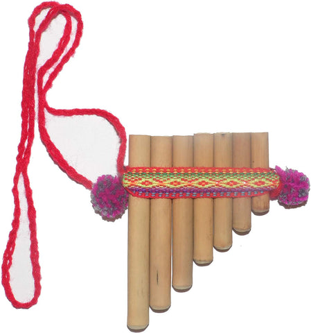 Toy Bamboo Pan Flute Antara 7 Pipes Artisan Handmade From Peru
