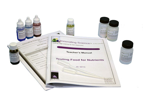 Innovating Science Testing Food For Nutrients Chemistry Kit (Material For 15 Groups Of Students)