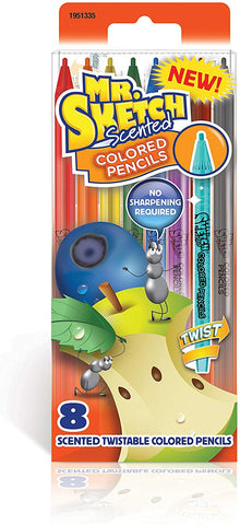 Mr. Sketch Scented Twistable Colored Pencils, Assorted Colors, 8 Count