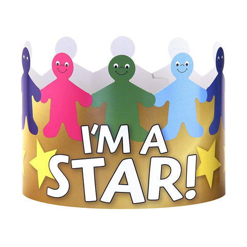 Hygloss Products Im A Star Paper Crowns - Customizable Kids Party Supplies Made In Usa,