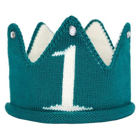 Lujuny Knit 1St Birthday Hat - Soft Baby Crown Headband Cap For St. Patrick'S Day Party Costume Photoshoot (Green)