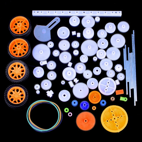Quimat 78Pcs Plastic Gear Set With Various Gear And Axle Belt Bushings For Diy Car Robot Project Qy17
