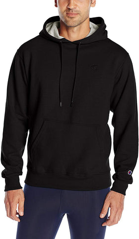 Champion Men'S Powerblend Pullover Hoodie, Black, Small