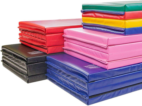 "Incstores Premium Folding Mats 2"" Featuring 4 Sided Hook And Loop - Crosslink Polyethylene Foam Encased With 18 Oz Vinyl Fabric For Gymnastics, Tumbling, Cheerleading And Wrestling"