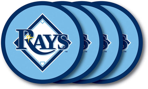 Mlb Tampa Bay Rays Vinyl Coaster Set