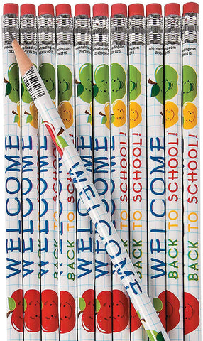 Welcome Back To School Pencils (24 Pencil Set)