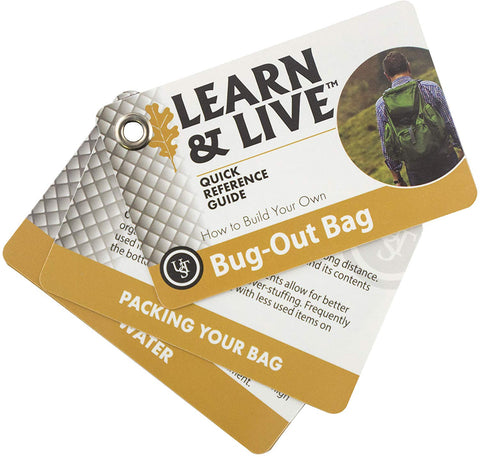 Ust Learn & Live Educational Card Set, Bug Out Bags