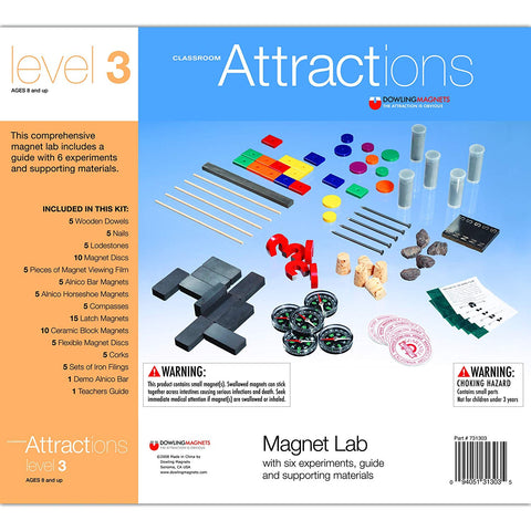 "Dowling Magnets Do-731303 Classroom Level 3 Attractions Kit Grade Kindergarten To 1, 2.38"" Height, 9.6300000000000008"" Wide, 13"" Length"