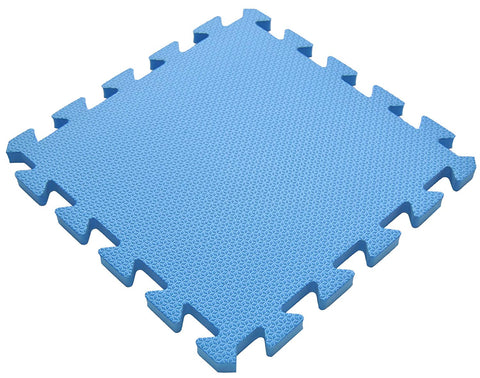 "36 Pieces Non-Toxic Waterproof Foam Wonder Mats: Non-Recycled Quality & Extra Thick 12"" X 12"" X ~9/16"" (Blu)"
