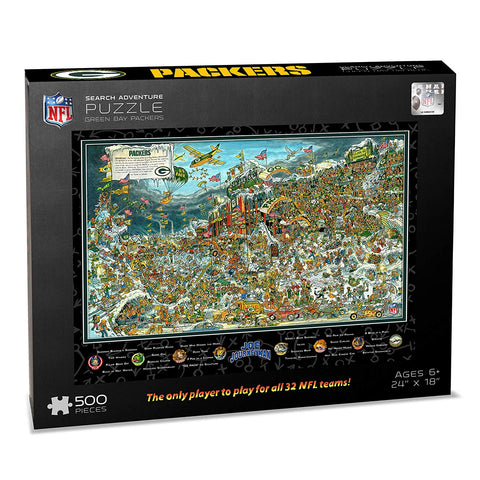 Nfl Green Bay Packers Joe Journeyman Puzzle - 500-Piece