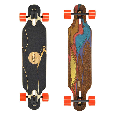 Loaded Boards Icarus Bamboo Longboard Skateboard Complete W/ 80Mm 80A Kegels (Flex 2)