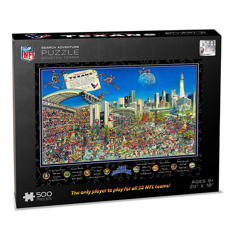 Nfl Houston Texans Joe Journeyman Puzzle - 500-Piece