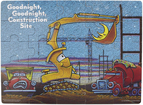 Goodnight, Goodnight, Construction Site 25 Piece Wood Jigsaw Puzzle, 15.75""