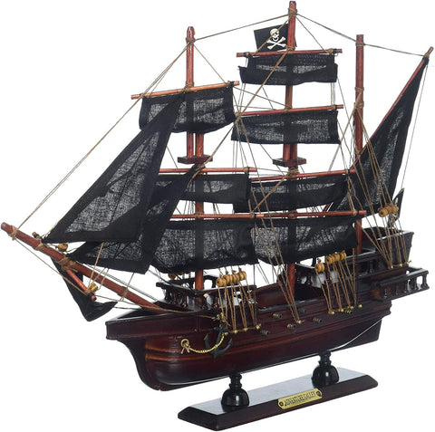 Hampton Nautical Wooden Captain Kidd'S Adventure Galley Model Pirate Ship, 15""