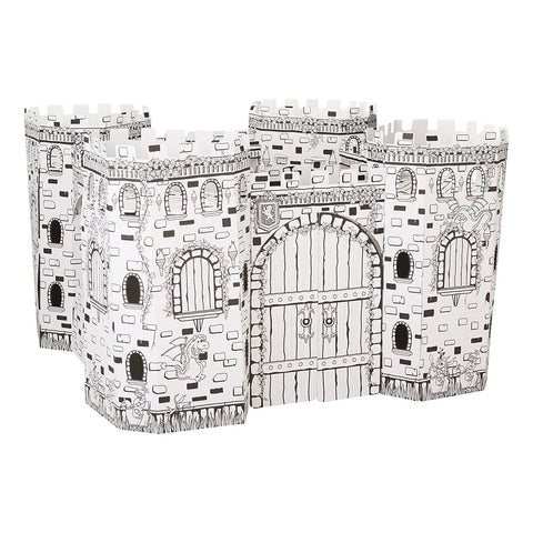 Color-It-Yourself Castle Fortress, Kid-Sized Cardboard Coloring Kit