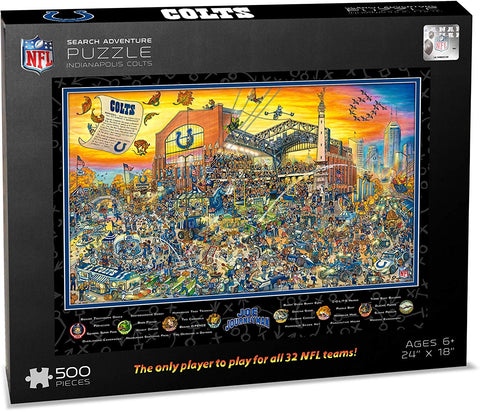 Nfl Indianapolis Colts Joe Journeyman Puzzle - 500-Piece