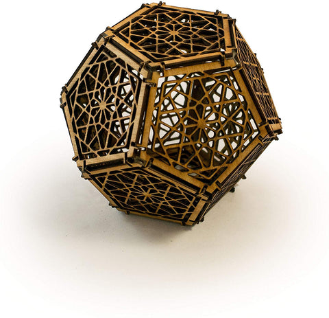 Crafts - Dodecahedron - Raw Wood Art Kit Architect Gift (Unassembled)