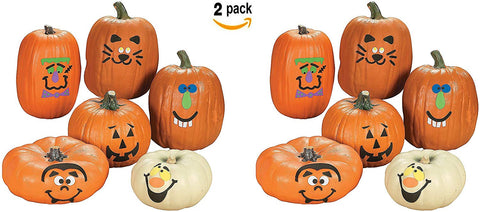 Fun Express Pumpkin Decoration Crafting Kit With Foam Adhesive | (24 Count) | Great For Halloween-Themed Activities For Kids Age 5+