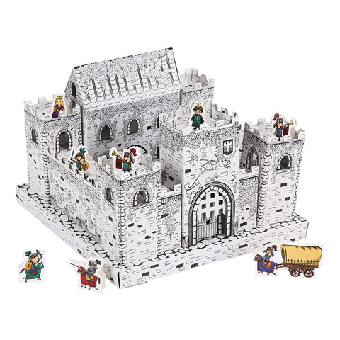 Color- It-Yourself Toy Castle, Cardboard Coloring Playset