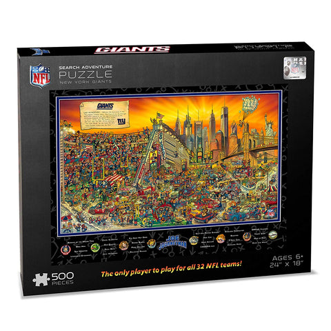Nfl New York Giants Joe Journeyman Puzzle - 500-Piece