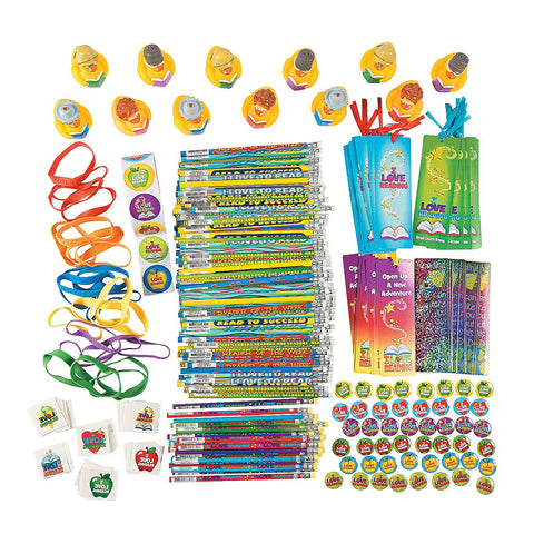 Fun Express - I Love To Read Assortment - Stationery - Awards - Misc Awards - 250 Pieces