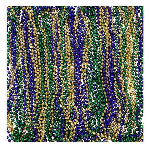 "Funny Party Hats Mardi Gras Beads - Mardi Gra Accessories - Carnival Necklaces - 33"" Inches - Mardi Gras Party - 144 Pc"