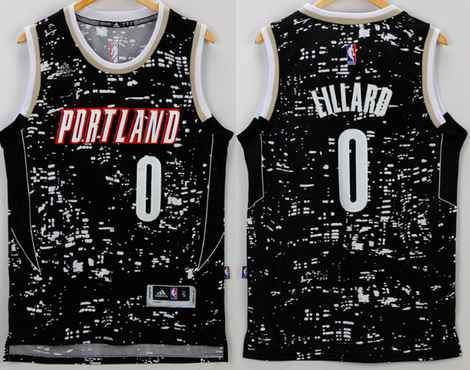 ... men 0 damian lillard jersey city black portland trail blazers swingman 47e1865dc