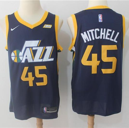 ... Men 45 Donovan Mitchell Jersey Black Utah Jazz Jersey Fanatics Swingman  ... Nike NBA ... 7812e134e