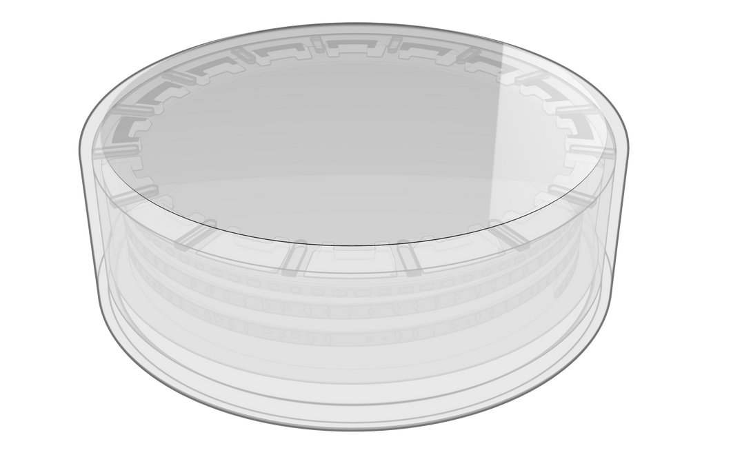 55mm Round Clear BOPP Label