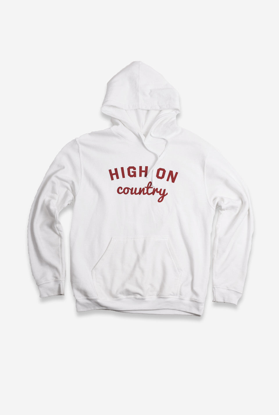 High on Country Hoodie - White