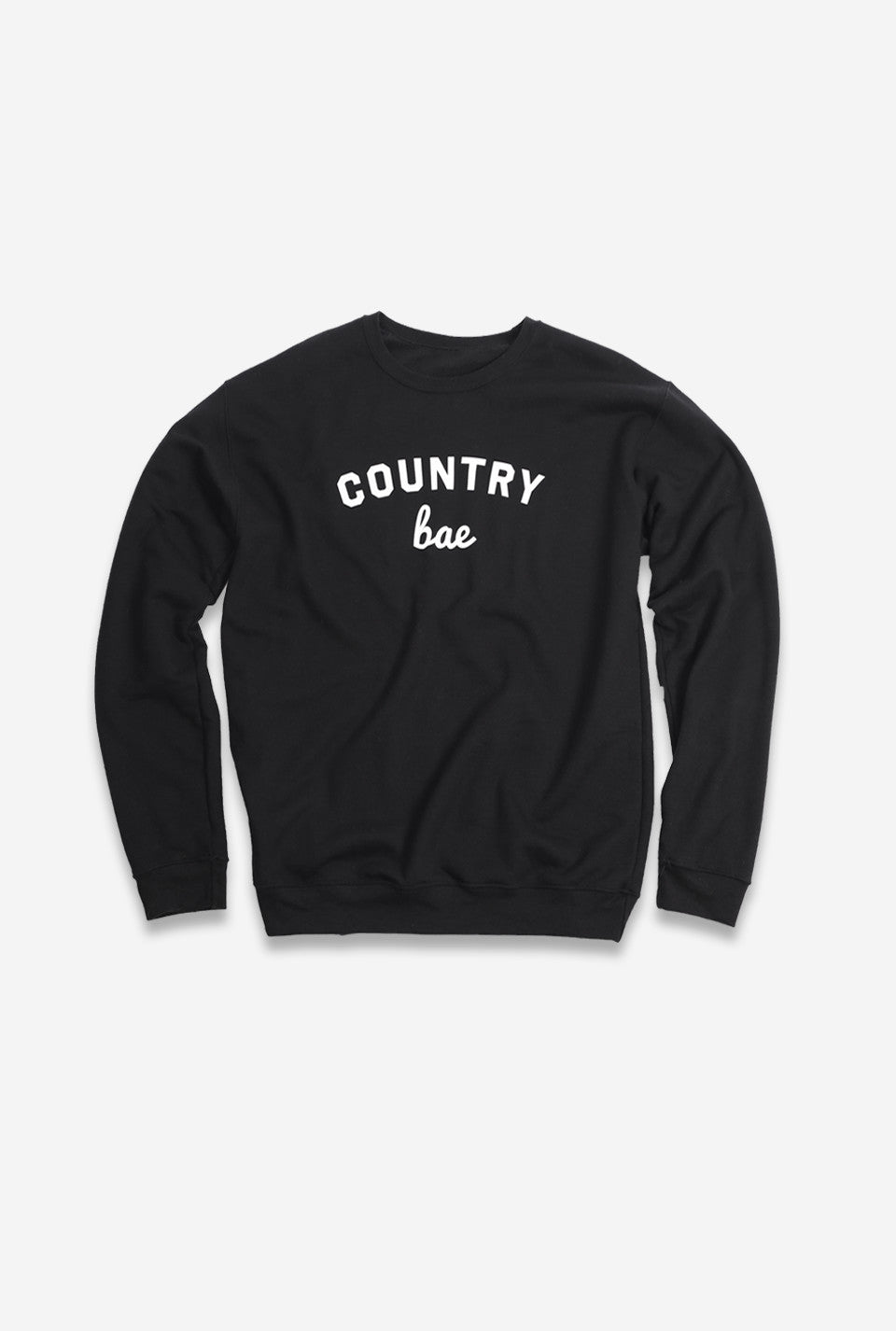 Country Bae Crewneck - Black