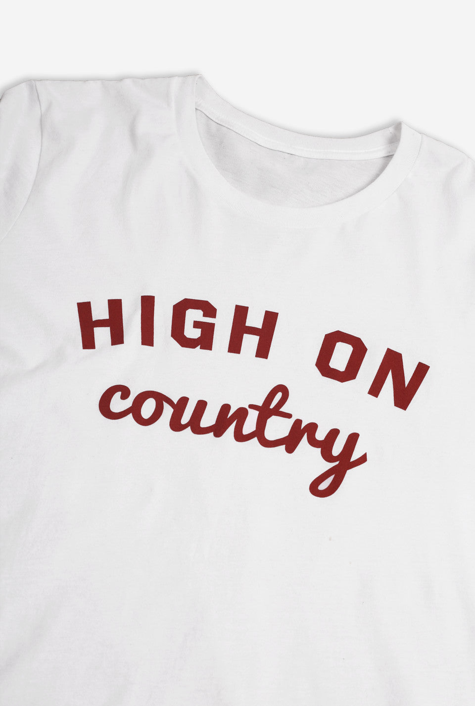 High on Country T-Shirt - White