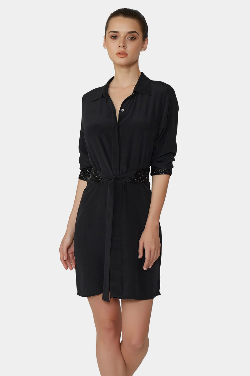 Classique Silk Shirt Dress Short