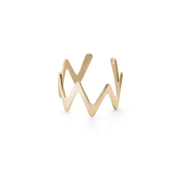 Large Zigzag Stackable Ring