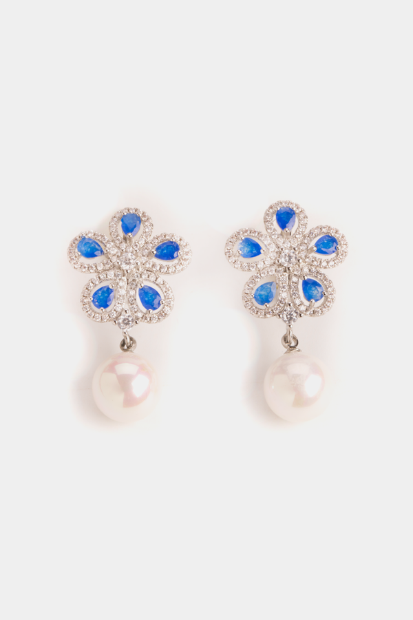 Sapphire Flowers and Shell Pearls